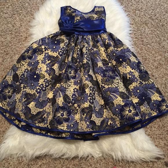 Princess Kloset Other - Toddler Girl Princess Kloset Navy Gold Dress, 2